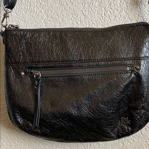 The Sak leather crossbody purse adjust strap
